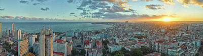 Photograph - Aerial View Of A City, Havana, Cuba by Panoramic Images