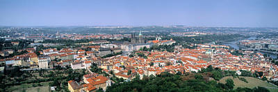 Prague Photograph - Aerial View Of A City, Prague, Czech by Panoramic Images