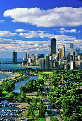 Chicago Photograph - Aerial View Of Chicago, Illinois by Panoramic Images