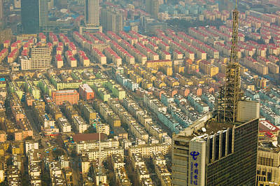 Aerial View Of New Pudong District Art Print by Panoramic Images