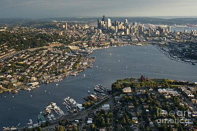 Photograph - Aerial View Of Seattle by Jim Corwin