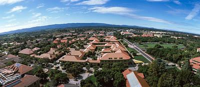 Stanford Wall Art - Photograph - Aerial View Of Stanford University by Panoramic Images