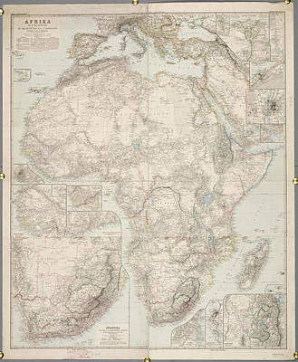 Cartography Photograph - Africa by British Library