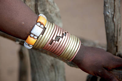Copper Beads Photograph - Africa, Ethiopia, Omo River Valley by Ellen Goff