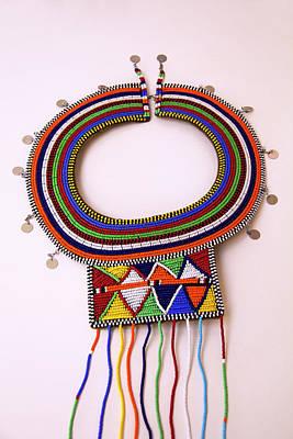 Beadwork Photograph - Africa, Kenya Maasai Tribal Beads by Kymri Wilt