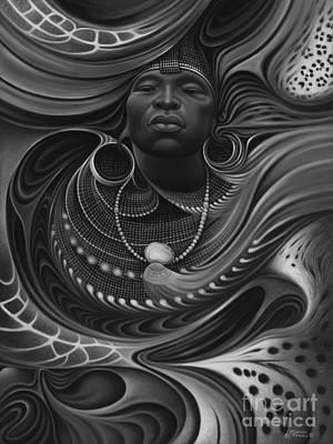 African Spirits I Original by Ricardo Chavez-Mendez
