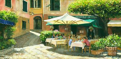 Portofino Italy Painting - Afternoon Delight by Michael Swanson