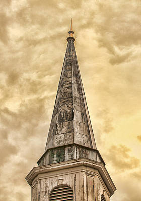 Photograph - Aging Church Steeple by Gary Slawsky