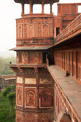 Lintels Photograph - Agra Fort, Agra, Uttar Pradesh, India by Inger Hogstrom