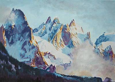 Chamonix Painting - Aiguilles De Chamonix by Danielle Arnal