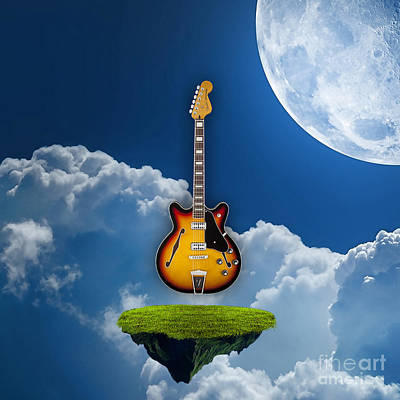 Air Guitar Art Print by Marvin Blaine