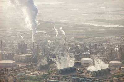 Destruction Photograph - Air Pollution From Syncrude Tar Sands by Ashley Cooper