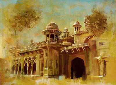 Painting - Aitchison College by Catf
