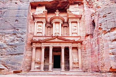 Petra Photograph - Al Khazneh by Alexey Stiop