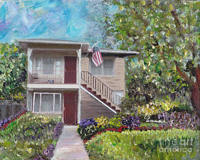 Art Print featuring the painting Alameda 1908 Duplex  by Linda Weinstock