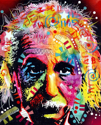 Painting - Albert Einstein 2 by Dean Russo
