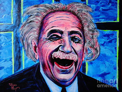 Albert Einstein Art Print by Viktor Lazarev
