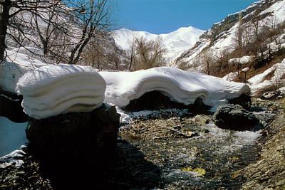 Thaw Photograph - Alborz Mountains by Babak Tafreshi