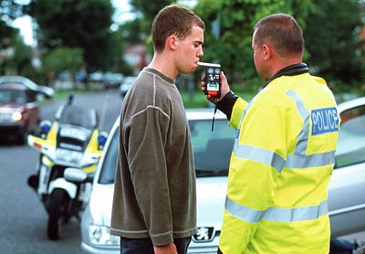 Policeman Wall Art - Photograph - Alcohol Breath Test by Jim Varney/science Photo Library