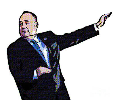 Digital Art - Alex Salmond Does The Lightning Bolt by Liz Leyden
