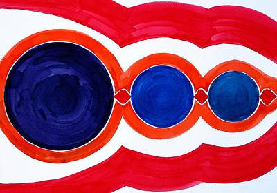 Mayan Painting - Alignment Original Painting by Sol Luckman