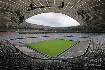 Photograph - Allianz Arena Munich World Cup Arena 2006 by Rudi Prott