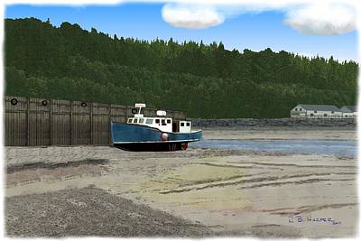 Digital Art - Alma Harbor by R B Harper