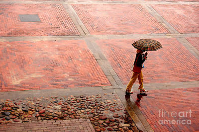Depression Photograph - Alone In The Rain by Michal Bednarek