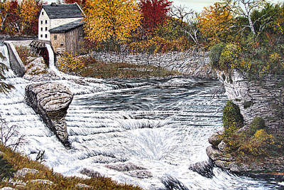 Grist Mill Painting - Alora Gorge by Wanda Kightley