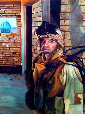 Iraqi Painting - Alpha Raider by Annette Redman