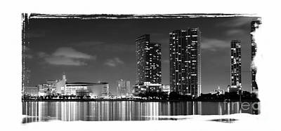American Airlines Arena And Condominiums Art Print by Carsten Reisinger