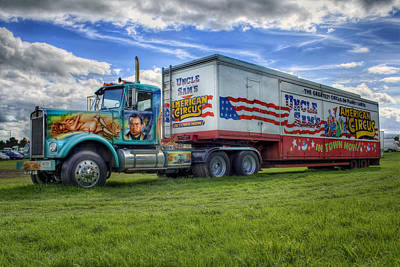 Photograph - American Circus Truck by Ian Mitchell