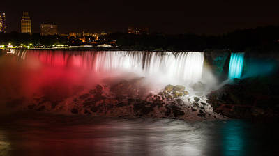 Night Photograph - American Falls by Adam Romanowicz