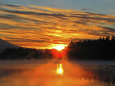Print featuring the photograph American Lake Sunrise by Tikvah's Hope