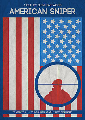 American Sniper Minimalist Movie Poster Art Print by Adam Asar