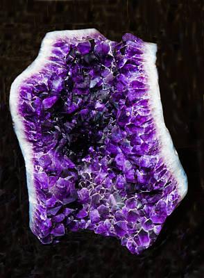 Photograph - Amethyst Crystal Geode by Millard H. Sharp
