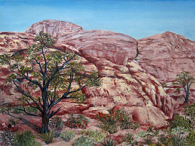 Painting - Among The Red Rocks by Roseann Gilmore