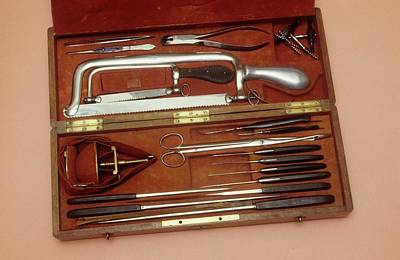 Of Peaches Photograph - Amputation Instruments by Science Photo Library