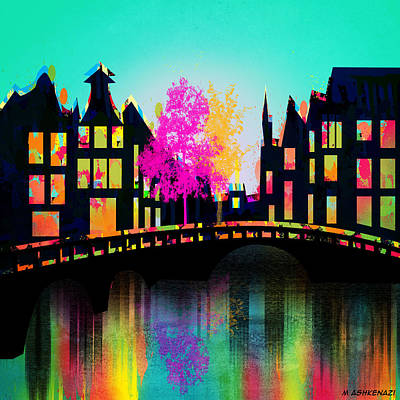Amsterdam Painting - Amsterdam by Mark Ashkenazi
