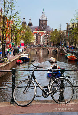 Photograph - Amsterdam Old Town Canal by Michal Bednarek