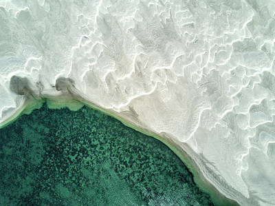 Guerrero Negro Photograph - An Aerial View Of Sand Dunes by Ben Horton
