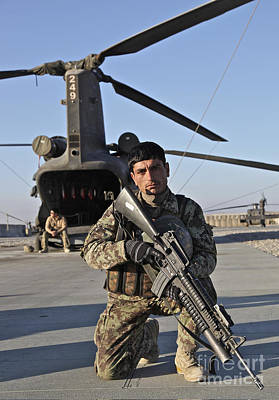 An Afghan National Army Soldier Print by Stocktrek Images