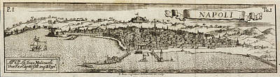 Napoli Photograph - An Ancient Illustration Of Naples by British Library