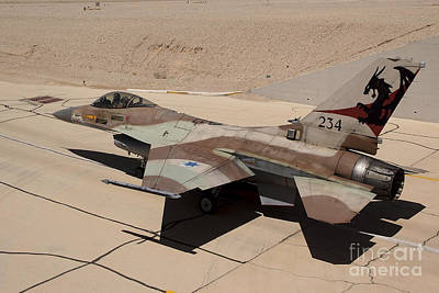 An F-16a Netz Of The Israeli Air Force Print by Ofer Zidon