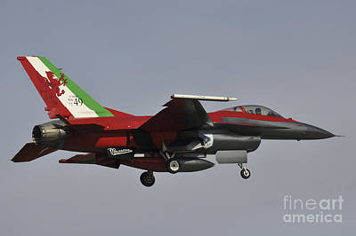 Transportation Royalty-Free and Rights-Managed Images - An Italian Air Force F-16 Air Defense by Giorgio Ciarini