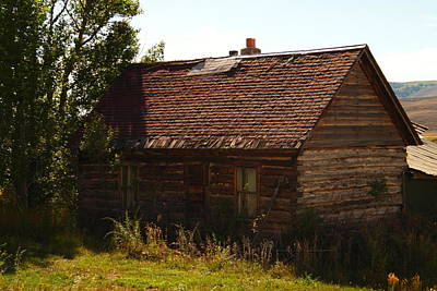 Old Cabins Photograph - An Old Cabin In Utah by Jeff Swan