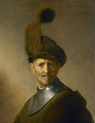 Painting - An Old Man In Military Costume by Celestial Images