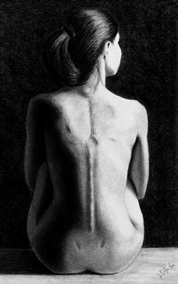 Drawing - Ana In Waiting  by Joseph Ogle