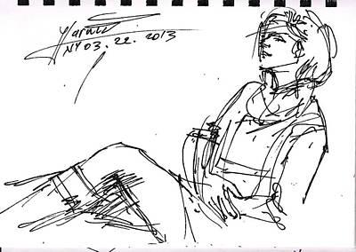 Pretty Girls Drawing - Ana by Ylli Haruni