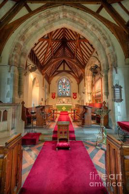 Wales Digital Art - Ancient Parish Church by Adrian Evans